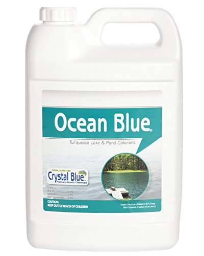(Sanco Industries Crystal Blue Ocean Blue Pond Dye - Aqua Blue Color - 1 Gallon)