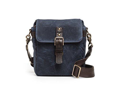 ONA - The Bond Street Camera Messenger Bag, Waxed Canvas (Oxford Blue) by Ona