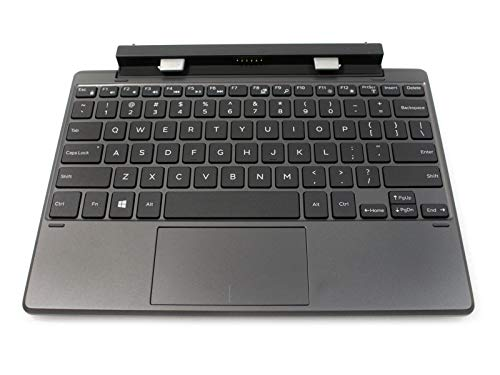 New FWV30 Genuine OEM Dell Latitude 11 5175 5175 Tablet Full Back Lit Keyboard Docking Station W/ Stylus Portable Internal Battery Mobile Workstation Model K12M
