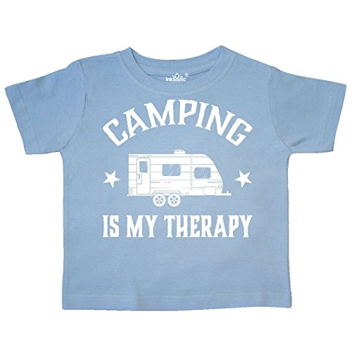 inktastic - Camping is My Therapy Trailer Toddler T-Shirt 3T Light Blue 302ba