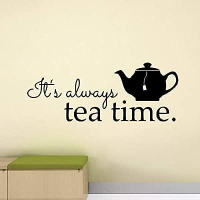 Dongwall Siempre es Hora del té calcomanía de Pared Cartel ...