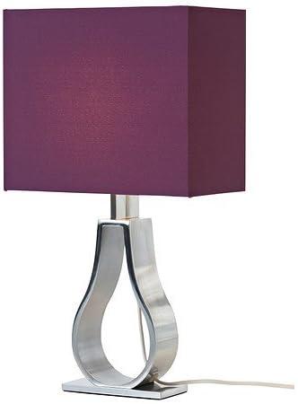 Lámpara de mesa IKEA Klabb pantalla lila Ancho 24 cm sin Lámpara ...