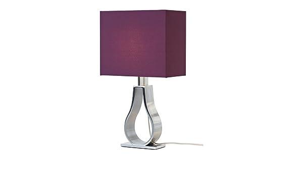 Lámpara de mesa IKEA Klabb pantalla lila Ancho 24 cm sin ...