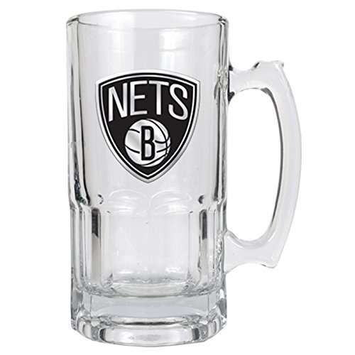 NBA Brooklyn Nets 1 Liter Macho Mug - Primary Logo 1l Macho Beer Mug