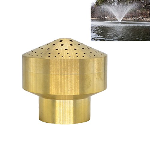 Brass Column Garden Square Fireworks Pool Pond Fountain Nozzle Sprinkler Spray Head SSH328 (1.5'') by Thaoya