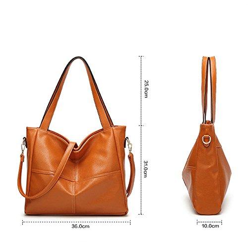 cien 36cmx10cmx31cm tamaño cruzada vueltas Brown Litchi Penao patrón palabra solo moda señora diagonal bolso pack hombro 6OETAn