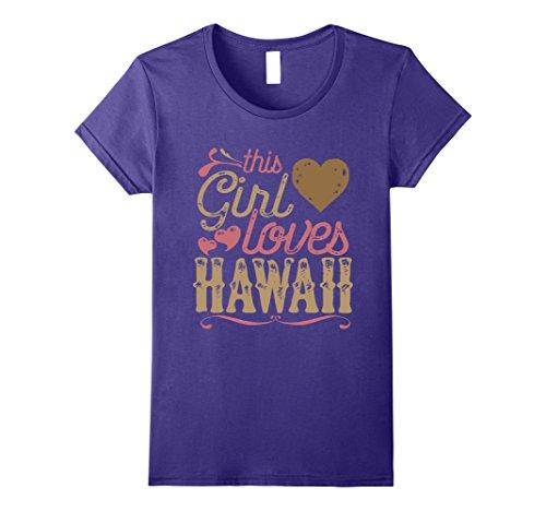 Womens Hawaii Shirt Tshirt Gift Tee Present Small Purple