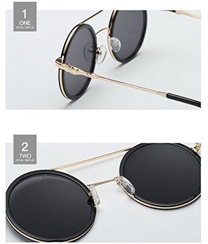 Lentille UV Noir Lunettes Rond soleil Saint de Bon cadre Valentin or Lunettes Femme Fashion Cadeau Nuage cWzI88