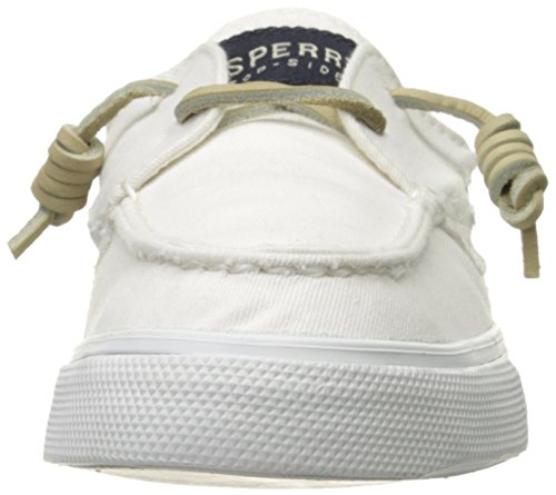 Sperry Bahama 2-Eye Washed Damen Sneakers Weiß (WHITE)