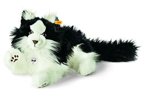 Steiff Norwegian Forest Cat Plush Toy (Black/White) by Steiff Steiff Cat