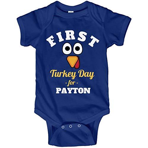 FUNNYSHIRTS.ORG First Turkey Day for Baby Payton: Infant Bodysuit ()