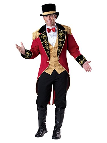 Mens Circus Lion Tamer Costume (Ringmaster Adult Costume - Medium)