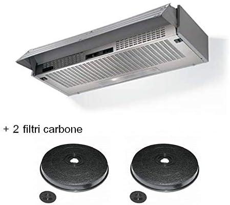 Faber 152 LG A60 Campana extractora de 60 cm 190 m3/h + 2 filtros de carbón incluidos en el kit. [Clase de eficiencia energética D]: Amazon.es: Grandes electrodomésticos