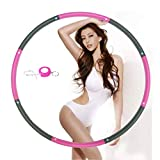 NEOWEEK Hula Hoop for Adults,Weighted Hula Hoop for Exercise-2lb,8 Section Detachable Design-Professional Soft Fitness Hula Hoop(Fushcia)