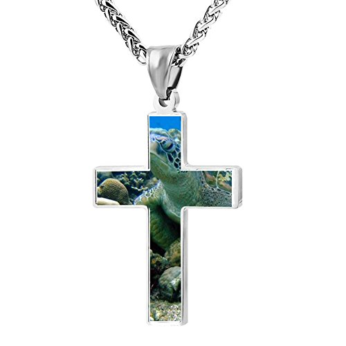 Gjghsj2 Cross Necklace Pendant Religious Jewelry Scuba Diving For Men Wome