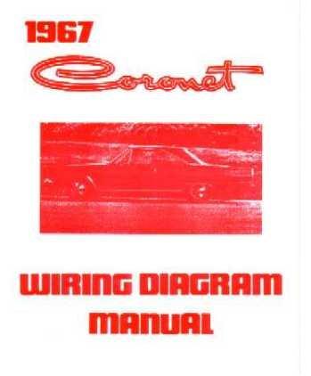 1967 DODGE CORONET Wiring Diagrams Schematics