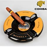 Cigar Ashtray Outdoor Vintage Cool Glass Best Antique Ceramic Black Yellow Thin Smoke