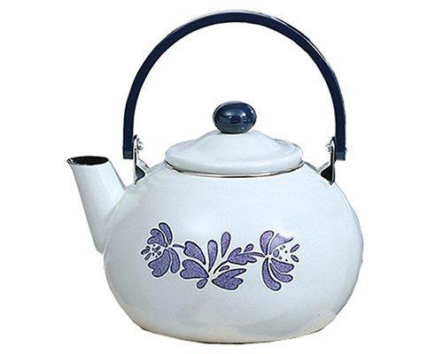 Pfaltzgraff Yorktowne 2.5-Quart Enamel on Steel Tea Kettle