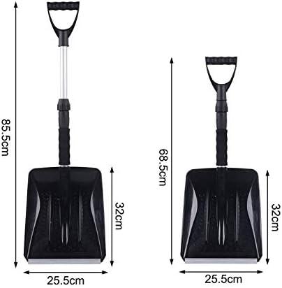 Red-eye Snow Shovel,Shovels with Extendable Handle,Aluminum Snow Shovel for Car,Foldable Shovel bearable
