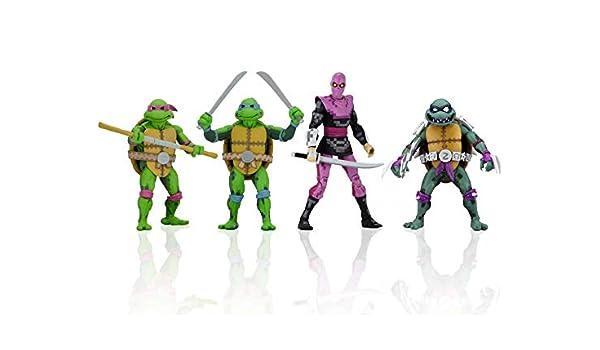Amazon.com: NECA TMNT Turtles in Time: Donatello, Leonardo ...