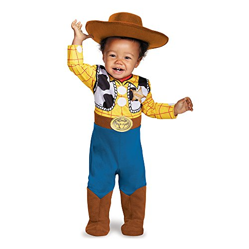 Disguise Baby Boys' Woody Deluxe Infant Costume, Multi, 6-12 Months (Baby Cowboy Costume)