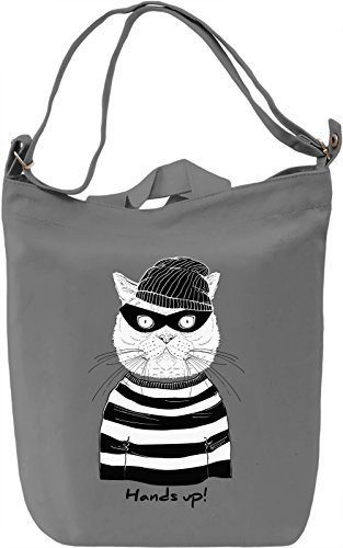 Robber cat Borsa Giornaliera Canvas Canvas Day Bag| 100% Premium Cotton Canvas| DTG Printing|