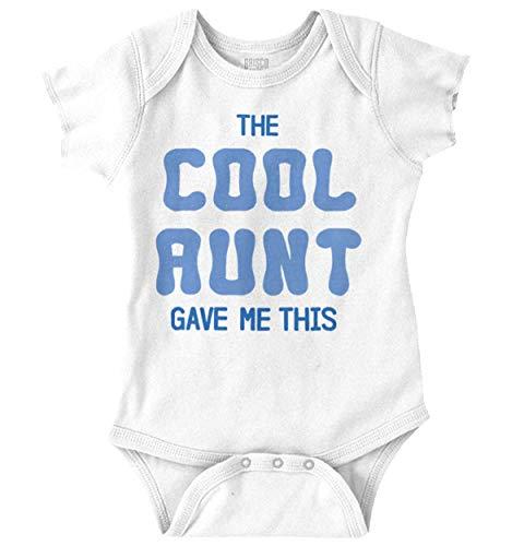 (Brisco Brands Cool Aunt Gave Me This Auntie Niece Nephew Romper Bodysuit)