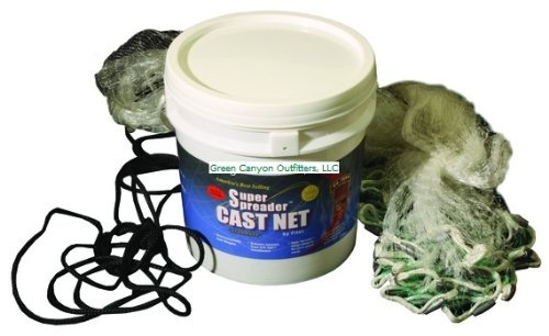 Fitec GS1500 Ultra Spreader Cast Net, Clear, 10' Radius, 1/4