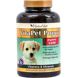 NaturVet VitaPet Puppy Time Release Multi Vitamin Chewable Tablets For Dogs- 60-count