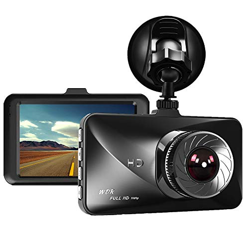 Dash Cam, Dyzeryk 1080P Car DVR Dashboard Camera with 3.0″ Screen, 170 Degree Wide Angle, Vehicle On-Dash Video Recorder, Car Camera with G-Sensor, WDR, Parking Monitor, Loop Recording, Night Vision