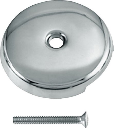 Westbrass D328-26 Single-Hole Waste and Overflow Faceplate, Polished Chrome