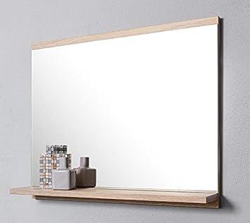 Domtech Miroir De Salle De Bain Avec Etagere En Chene Sonoma Miroir Mural Miroir De Salle De Bain