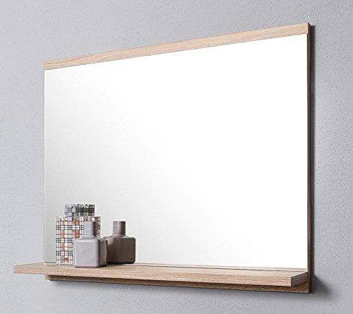 Badezimmerspiegel Eiche Sonoma Wandspiegel DOMTECH Badspiegel mit Ablage Badezimmer Spiegel