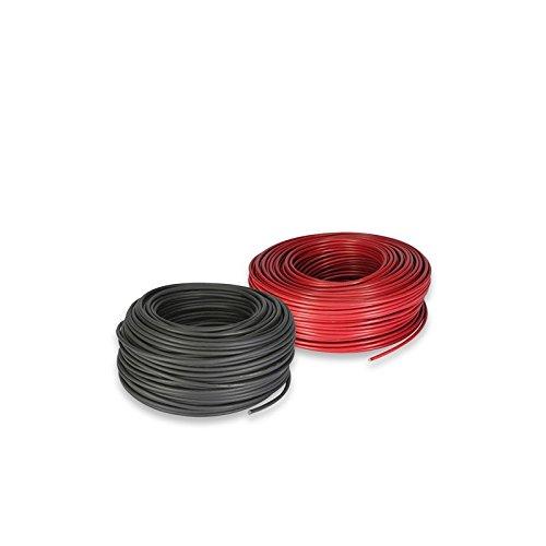 PuntoEnergia Italia - Set Solar Cable 6mm 3mt Red y 3mt Negro Fotovoltaico Botes Camper - CAVSOL3mt-6