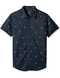 Men's Tridot Short Sleeve Woven Button Down Shirt