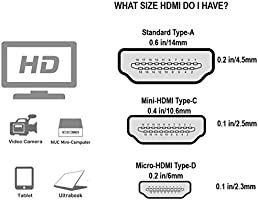 Cable Matters High Speed HDMI to Micro HDMI Cable (Micro HDMI to HDMI) 4K  Resolution Ready - 10 Feet