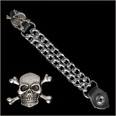 BIKER VEST EXTENDER SKULL AND CROSSBONES MADE IN USA motorcycle bell gremlin guardian harley yamaha honda suzuki indian triumph Gremlin Bell