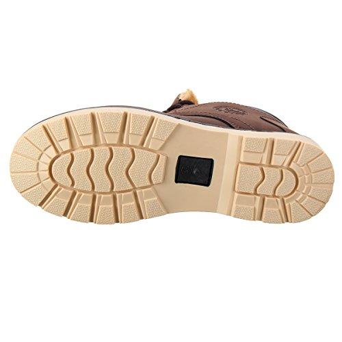 Scarpe Desert Stivali Gracosy Boot Boot Scarpe con Blu Imbottitura Invernali Invernali da Caldo Uomo Stivaletti Stivali Uomo Stivali Stivali Classic Lavoro Martin Esterno frHAnf8