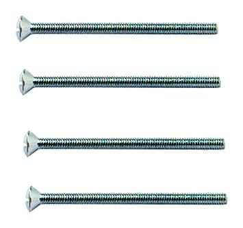 Packung /à 10 St/ück Bulk Hardware BH02229 Schraube f/ür elektrische Steckdose M3,5 x 25 mm Wei/ß Gl/änzend verzinkt