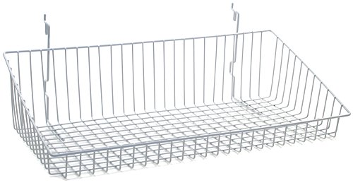 KC Store Fixtures A03035 Sloping Basket Fits Slatwall, Grid, Pegboard, 24