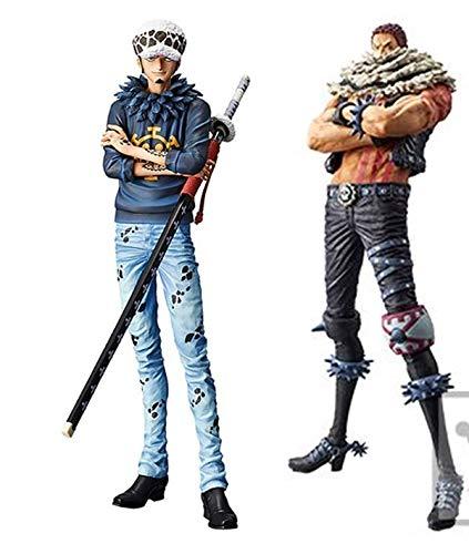 Banpresto One Piece King of Artist The Charlotte Katakuri & Grandista The Grandline Men Trafalgar Law Set of 2 Figure Statues
