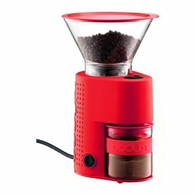 Bodum Bistro Electric Burr Coffee Grinder, Red