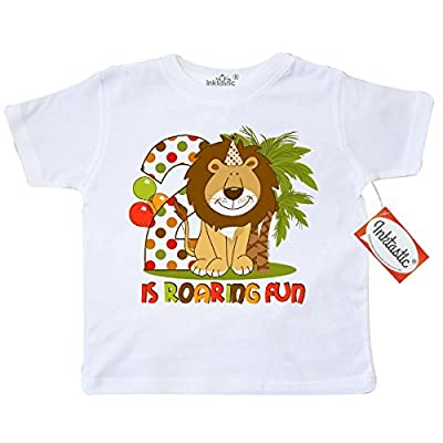 Inktastic Little Boys' Cute Lion 2nd Birthday Toddler T-Shirt