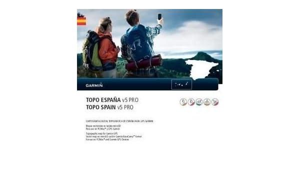 Topo España V5 PRO 2013 microSD/SD tarjeta Garmin GPS: Amazon.es ...
