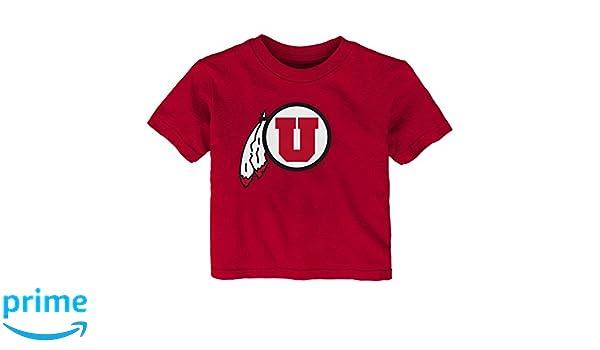 Dark Red 24 Months Outerstuff NCAA Utah Utes Infant Primary Logo Short Sleeve Tee