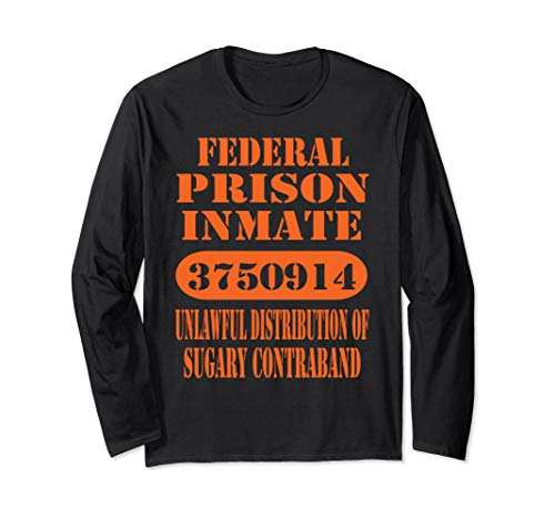 Funny Adult Halloween Costume T Shirt Federal Prison