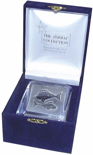 (Swedish Crystal Zodiac Paperweight - Deluxe Box -)