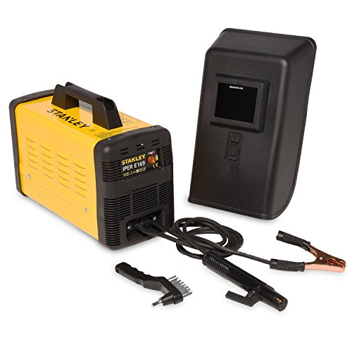 """Stanley IPER E169 Stick Welder – Compact 120-Volt, 100-Amp Welding Machine for Mild and Stainless Steel – 15.2"""" x 7"""" x 10.6"""" by Stanley"""
