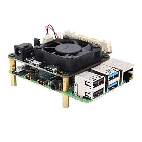 Raspberry Pi 4B/3B+/3B X735 V2.1 Power Management with Safe Shutdown Auto Cooling Expansion Board Compatible with Raspberry Pi 4 Model B