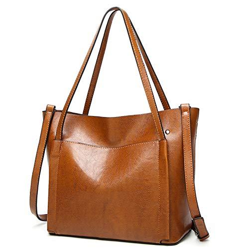 And Women's Female American Messenger European Marron One Fashion Shoulder Big Hlh Versatile Portable Bag Ladies l35TuFcJK1